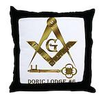 Doric Lodge #6 Throw Pillow