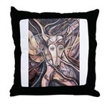 African Antelope Ivory Throw Pillow