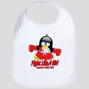 AIDS Fighting Penguin Bib