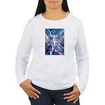 African Antelope Blue Women's Long Sleeve T-Shirt