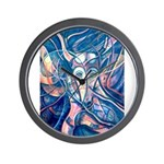 African Antelope Blue Wall Clock