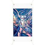 African Antelope Blue Banner