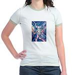 African Antelope Blue Jr. Ringer T-Shirt