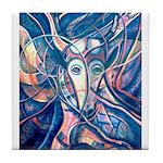African Antelope Blue Tile Coaster