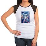 African Antelope Blue Women's Cap Sleeve T-Shirt
