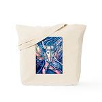 African Antelope Blue Tote Bag