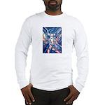 African Antelope Blue Long Sleeve T-Shirt