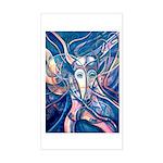 African Antelope Blue Sticker (Rectangle)