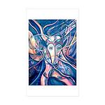 African Antelope Blue Sticker (Rectangle 10 pk)