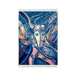 African Antelope Blue Rectangle Magnet