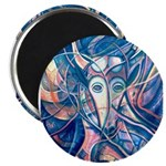 African Antelope Blue Magnet
