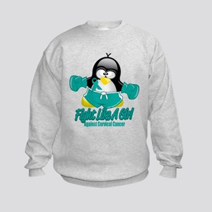 Cervical Cancer Fighting Peng Kids Sweatshirt