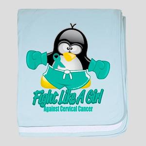 Cervical Cancer Fighting Peng baby blanket