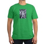 African Antelope B&W Men's Fitted T-Shirt (dark)