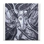 African Antelope B&W Tile Coaster