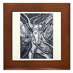 African Antelope B&W Framed Tile