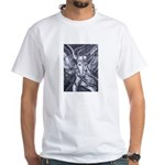 African Antelope B&W White T-Shirt
