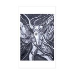 African Antelope B&W Sticker (Rectangle 50 pk)