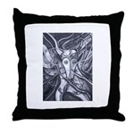 African Antelope B&W Throw Pillow