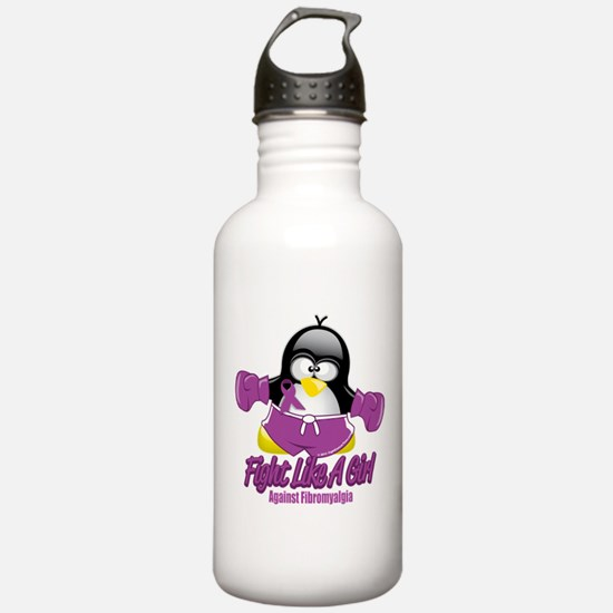 Fibromyalgia Fighting Penguin Sports Water Bottle