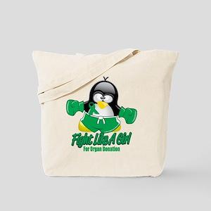 Organ Donation Fighting Pengu Tote Bag