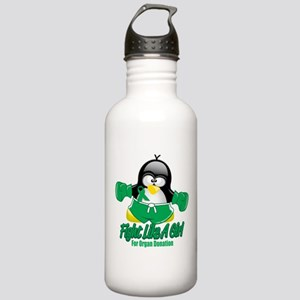 Organ Donation Fighting Pengu Stainless Water Bott