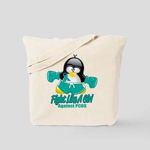 PCOS Fighting Penguin Tote Bag