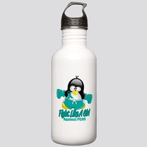PCOS Fighting Penguin Stainless Water Bottle 1.0L