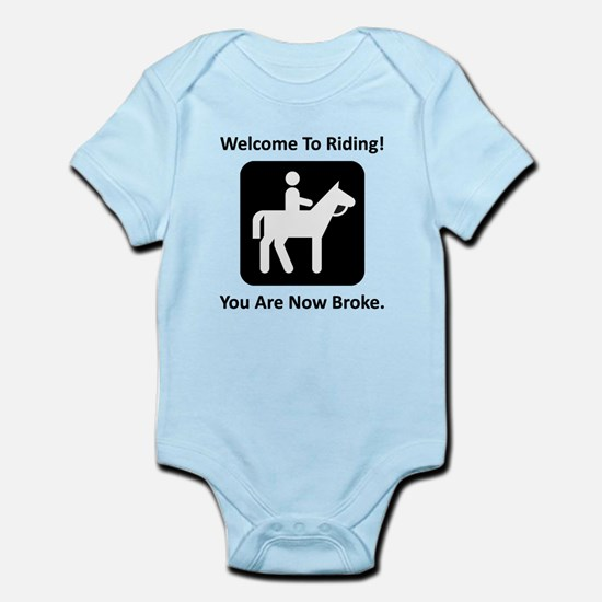 Welcome To Riding! Infant Bodysuit