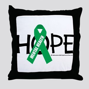 Mental Health Hope Throw Pillow
