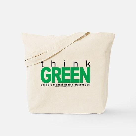 Think Green Mental Health Tote Bag