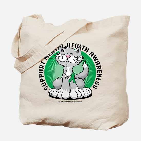 Mental Health Cat Tote Bag