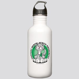 Mental Health Cat Stainless Water Bottle 1.0L