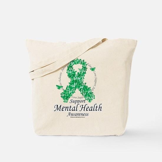 Mental Health Ribbon of Butte Tote Bag