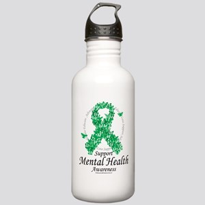 Mental Health Ribbon of Butte Stainless Water Bott