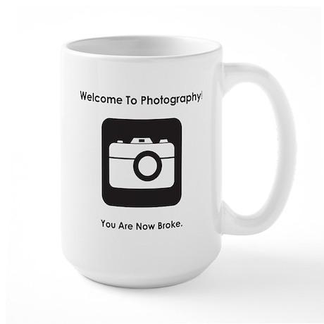 Welcome To Photography! Large Mug