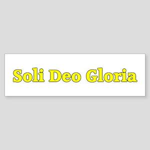 Soli Deo Gloria (Ac) Sticker (Bumper)