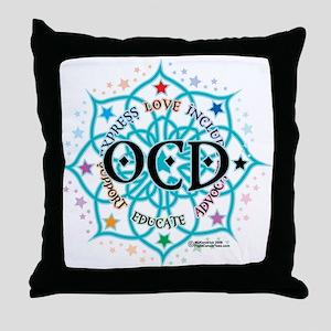 OCD Lotus Throw Pillow