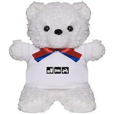 Eat Sleep ATV Teddy Bear