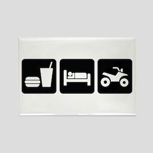 Eat Sleep ATV Rectangle Magnet