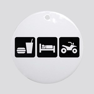 Eat Sleep ATV Ornament (Round)
