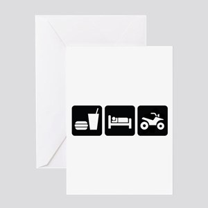 Eat Sleep ATV Greeting Card