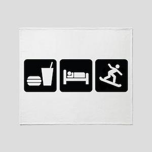Eat Sleep Snowboard Throw Blanket