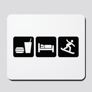 Eat Sleep Snowboard Mousepad