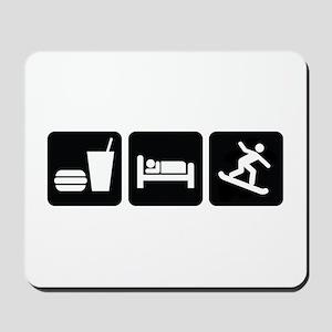 Eat Sleep Snowboard Mousepad