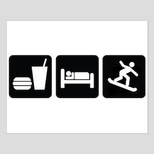 Eat Sleep Snowboard Small Poster