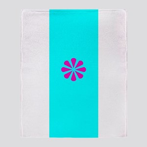 Pink Floral Path Throw Blanket Throw Blanket