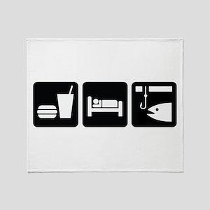 Eat Sleep Fish Throw Blanket