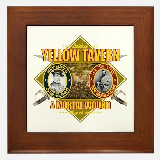 Yellow Tavern Framed Tile