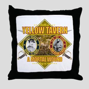 Yellow Tavern Throw Pillow